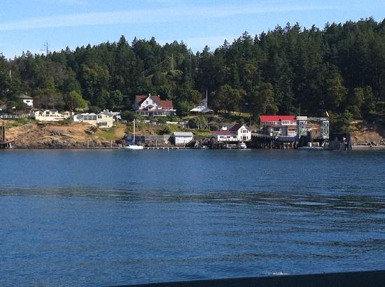 Orcas Hotel: view from ferry