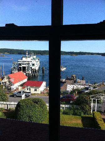 Orcas Hotel: view from our room