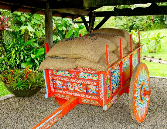 Villa Blanca Cloud Forest Hotel and Nature Reserve: Typical Costa Rican ox cart