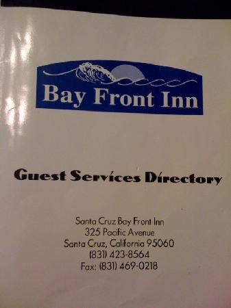 Bay Front Inn: Guest Services Directory