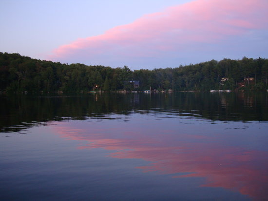 Lawrence, NY: View from the South End of Lake Ozonia