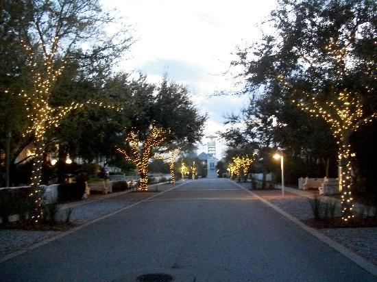 Carillon Beach: Carillon Avenue at dusk.