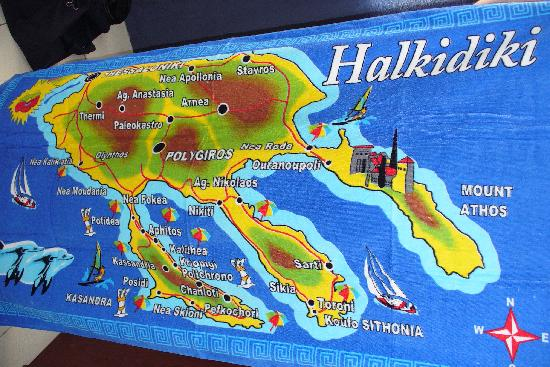 map of Halkidiki Picture of Tropical Hotel Hanioti TripAdvisor