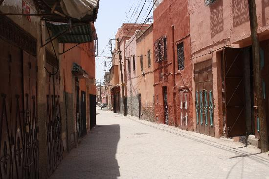 Riad Aguaviva: calle del Riad