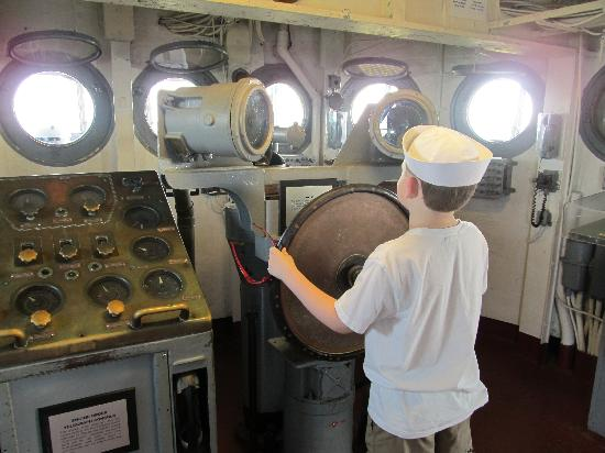 Patriots Point Naval & Maritime Museum: On the bridge