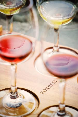 Forrest Wines Cellar Door: Forrest wines tasting tray - six wines to try.