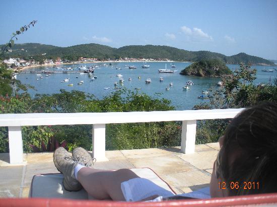 Abracadabra Pousada: Esta es la vista que teniamos desde la piscina y donde tambien se servía el desayuno, imaginen c