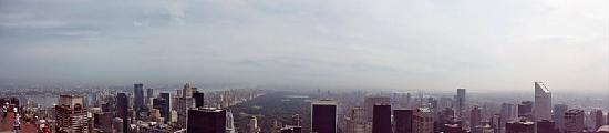 Plate-forme d'observation du GE Building : View of Central Park