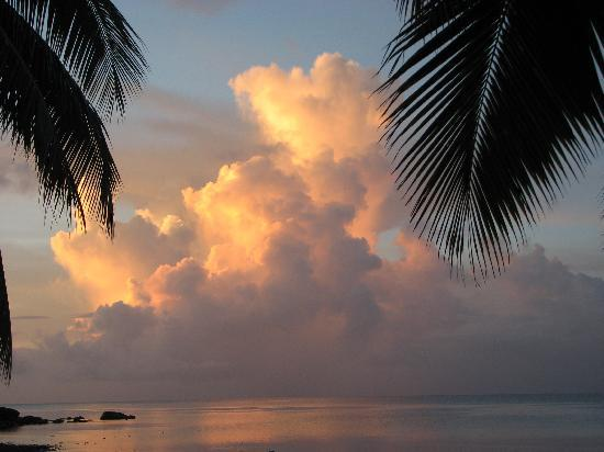 Papageno Resort: one of the many sunsets we saw