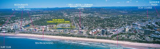 Alex Beach Cabins & Tourist Park: Aerial View of Alexandra Headland.
