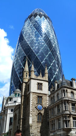 Brilliant Views From The Top Floor 30 St Mary Axe The Gherkin - London-gherkin-an-unusual-eggshaped-building