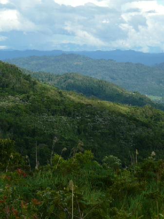 Aristo Kinabalu Resort @ Kundasang: Mount Kinabalu behind the clouds!