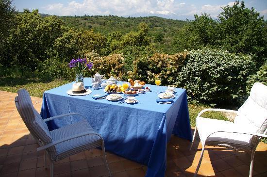 Maison Rose : Breakfast Terrace
