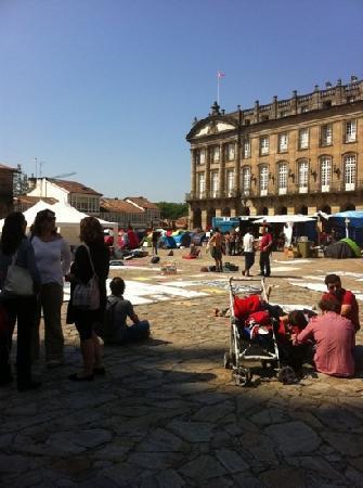 Santiago de Compostela, Spanien: la plaza