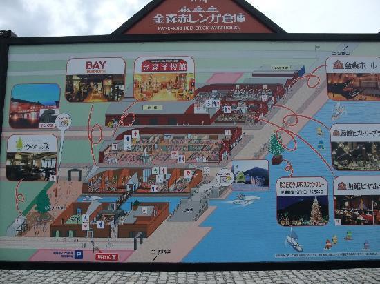 Kanemori Red Brick Warehouse : 案内図