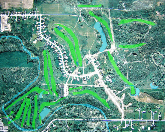 Petrolia, Canada: An arial view of the course.