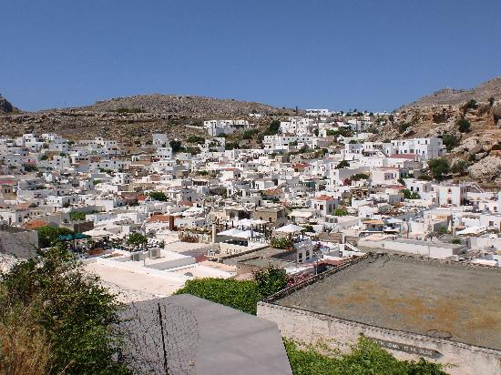 The white buildings of Lindos