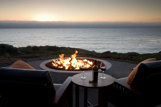 Timber Cove Resort: The view from the Outdoor Firepit that sets Timber Cove apart from other Sonoma Coast Hotels