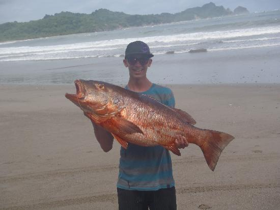 Nosara Surf Villas: David's big catch with Capain Nino