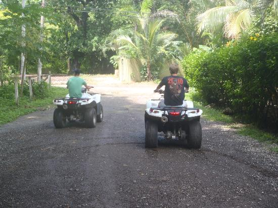 Nosara Surf Villas: The boys exploring on their ATVs