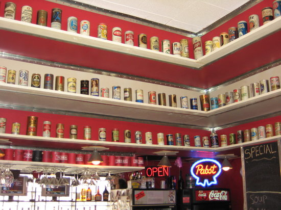Tin Can Tavern & Grille: Giant Beer Can Collection!
