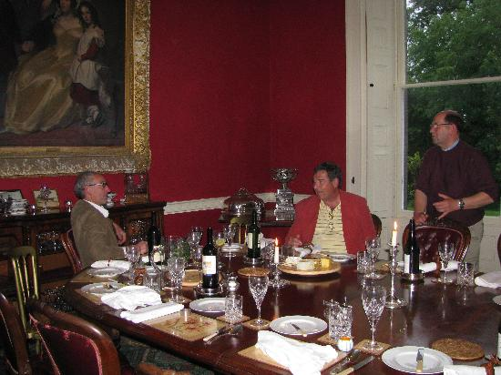 Temple House: Conversation after dinner