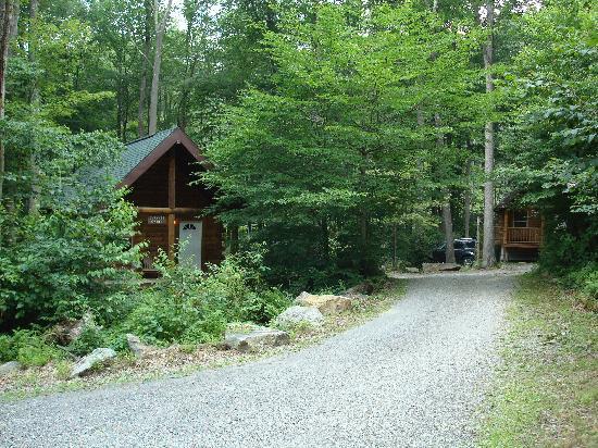 Mountain Creek Cabins : Bobcat on the right and Shawnee on the left