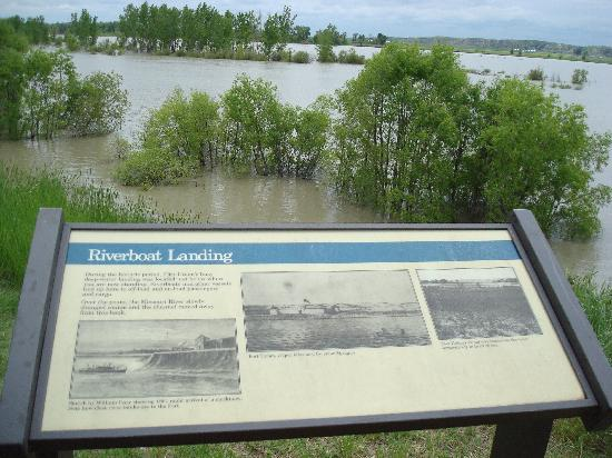 Williston, ND: View of the Missouri river