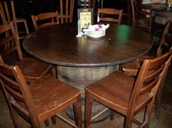 Ballydoyle Irish Pub & Restaurant: Beer Barrell Tables