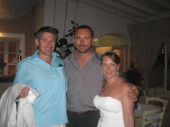 Almira Restaurant: Us with Christos the Restaurant Manager