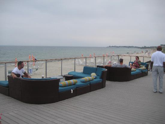 Sea Crest Beach Hotel Their Wonderful Pit Couches Overlooking The Off Bar