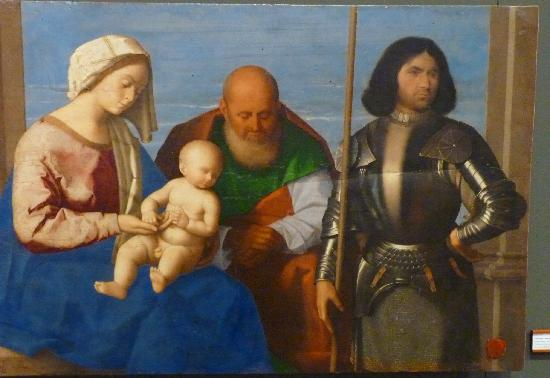 Museo Regionale Interdisciplinare: Holy Family with St. George, Vincenzo Catena, Museo Regionale, Messina