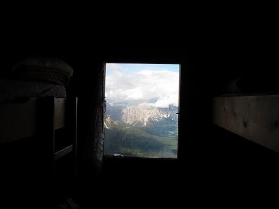 Rifugio Nuvolau: View from our bunk beds