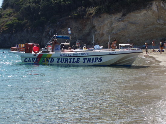 Mario's Cave and Turtle Boat Trips: Just arrived at Marathonissi