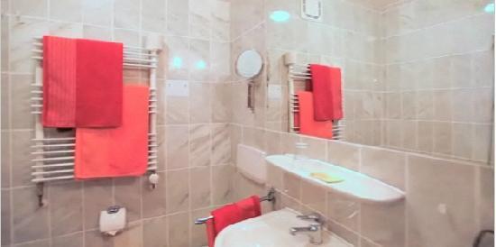 Hotel Fleischmann: Badezimmer