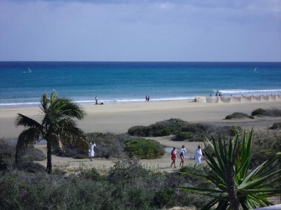 SBH Costa Calma Palace: Blick von der Poolbar zum Strand