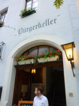 Bürgerkeller: from the street
