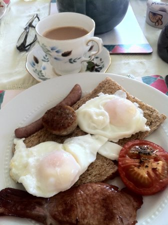 Hellarcher Farm B&B: I asked for a small and recieved this wonderful breakfast!