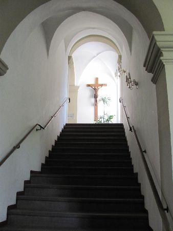 Monastery Karthaus: stairs in the interior