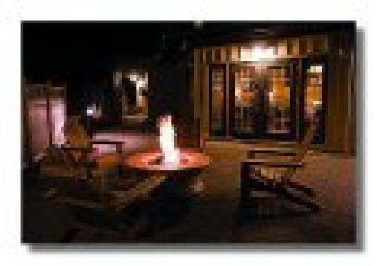 Mazzeo's Ristorante: 2 Outdoor Fire Pits on the Patio