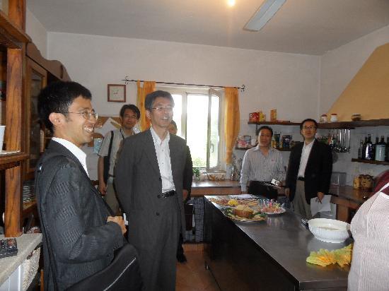 Arpino, Italie : Visita del vice ministro dell'agricolutura Giapponese.