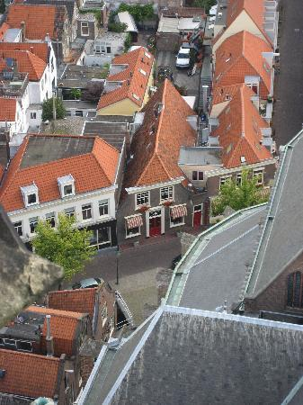 Hotel de Emauspoort: View of hotel from top of New Church
