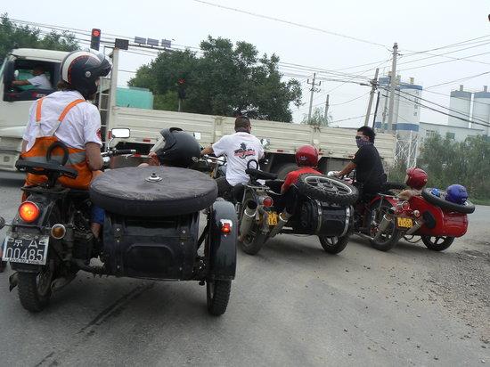 Side-car Motorcycles Trips - Beijing Sideways: un embouteillage