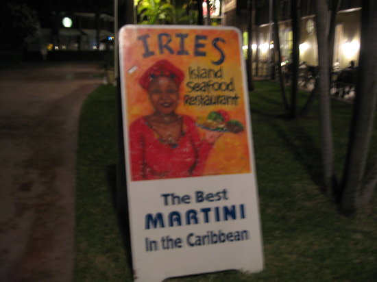 Iries: Sign Out Front.