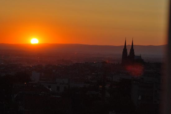 Sunrise over Clermont Ferrand from Hotel Radio