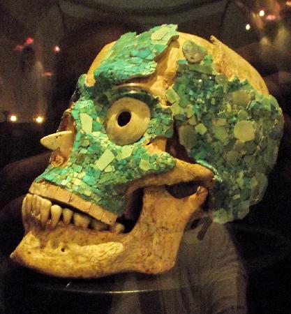 Museo de las Culturas de Oaxaca: decorated skull