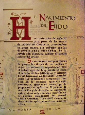 Museo de las Culturas de Oaxaca: one of the informative panels