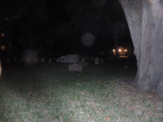 A Ghostly Encounter: Hugenot Cemetery with 2 orbs