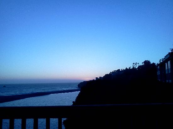 Surf Motel: sunset from deck