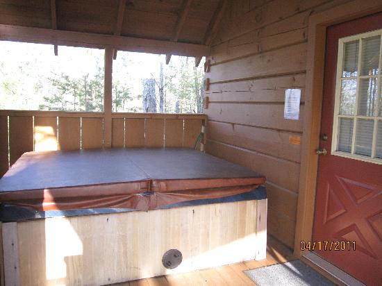 Country Pines Log Home Resort: Hot tub